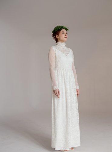 suknia ślubna na szyję