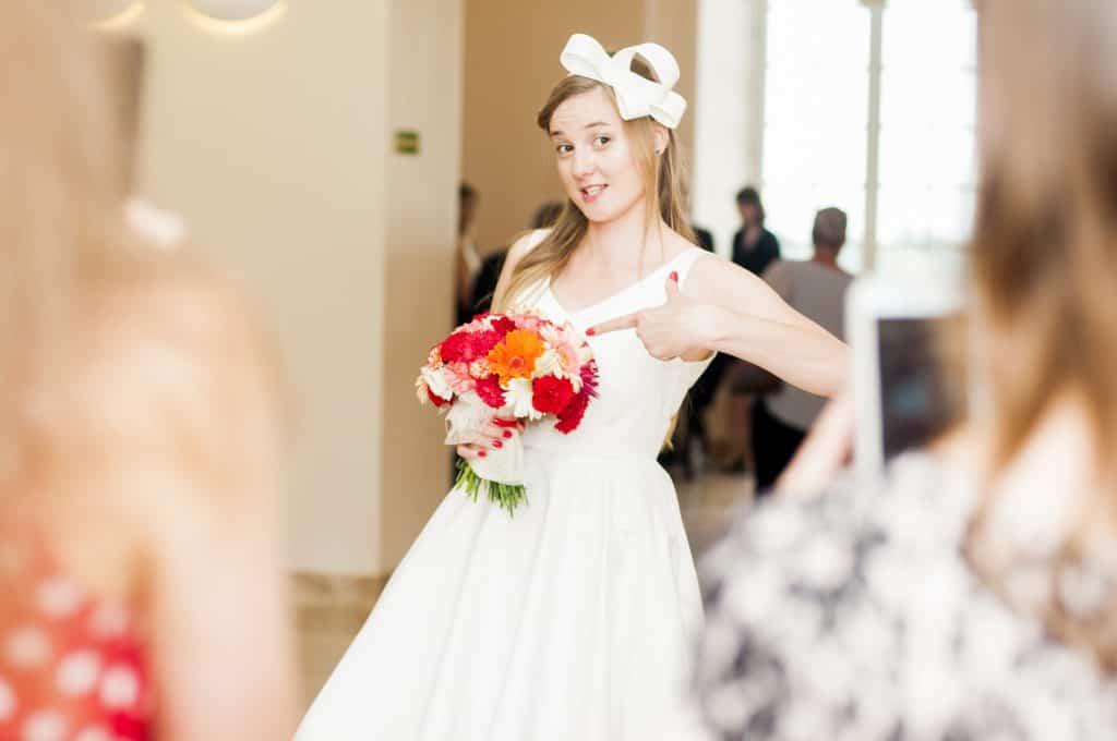 Kokarda do sukni ślubnej