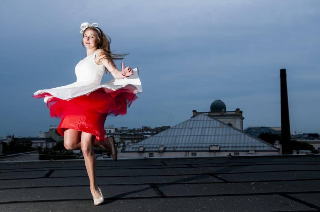 Czerwona sukienka ślubna